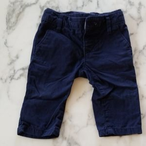 Navy Blue Pull-On Pants for Baby, Size 3-6 Months